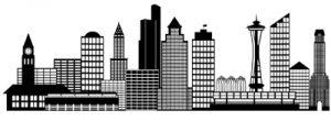 Seattle skyline drawing